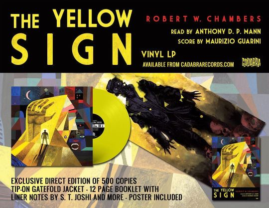 Cover of Cadabra Records' LP of The Yellow Sign